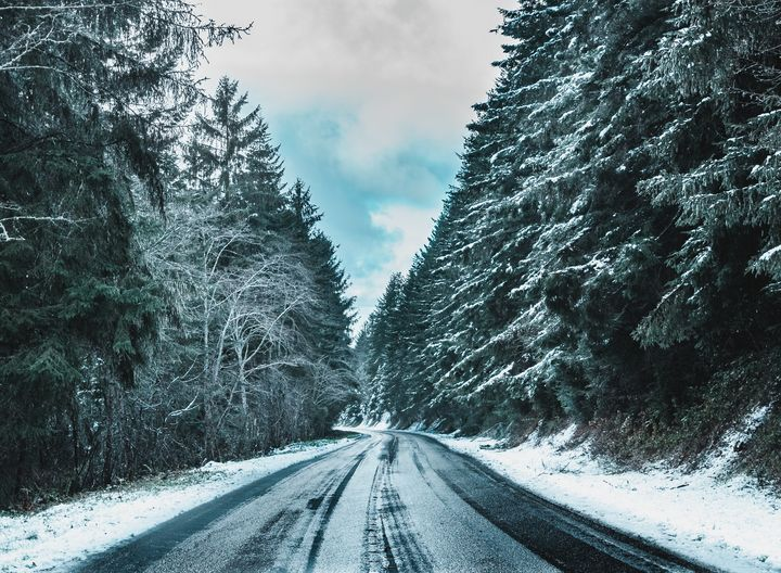 Snowy Road 2 - Caleb French Photography