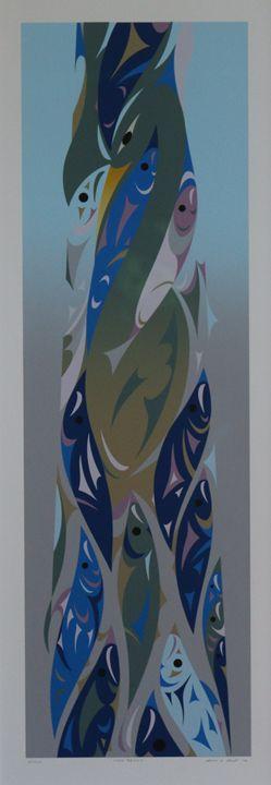 Iona Beach Limited Edition Serigraph - Native American Art