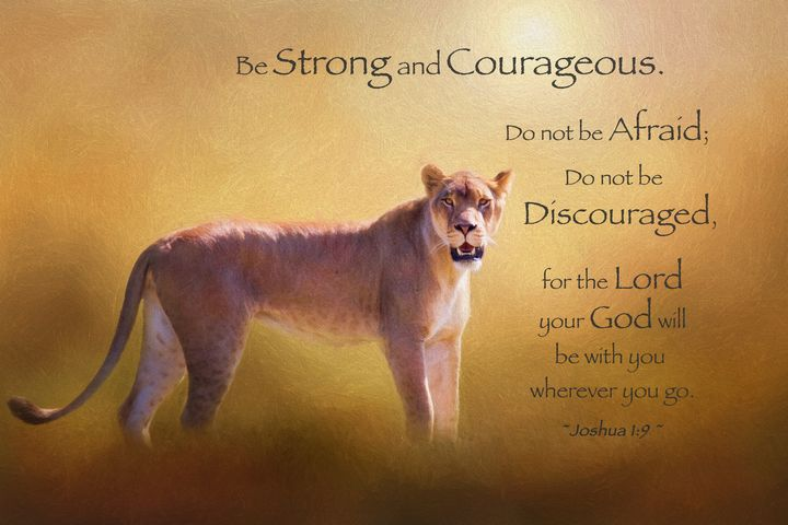 Be Strong And Courageous - Sharon McConnell