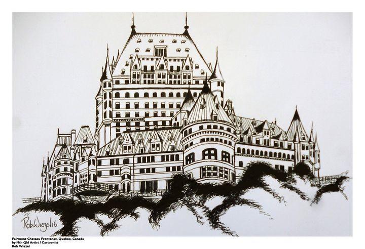 Chateau-Frontenac, Quebec, Canada - Rob Wiezel Art