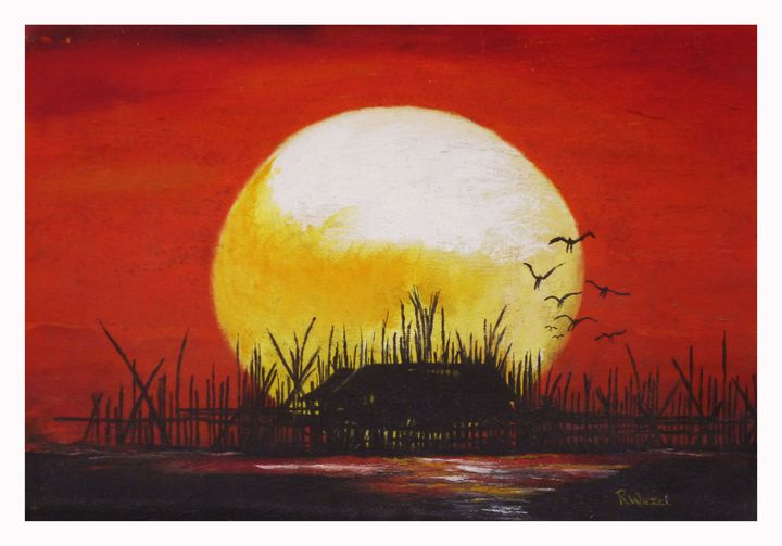 Red Sunset - Rob Wiezel Art