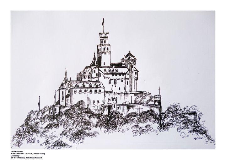 Marksburg Castle, Germany. - Rob Wiezel Art