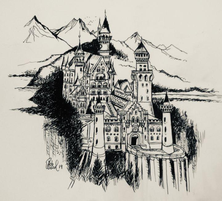 Neuschwanstein Castle, Bavaria. - Rob Wiezel Art