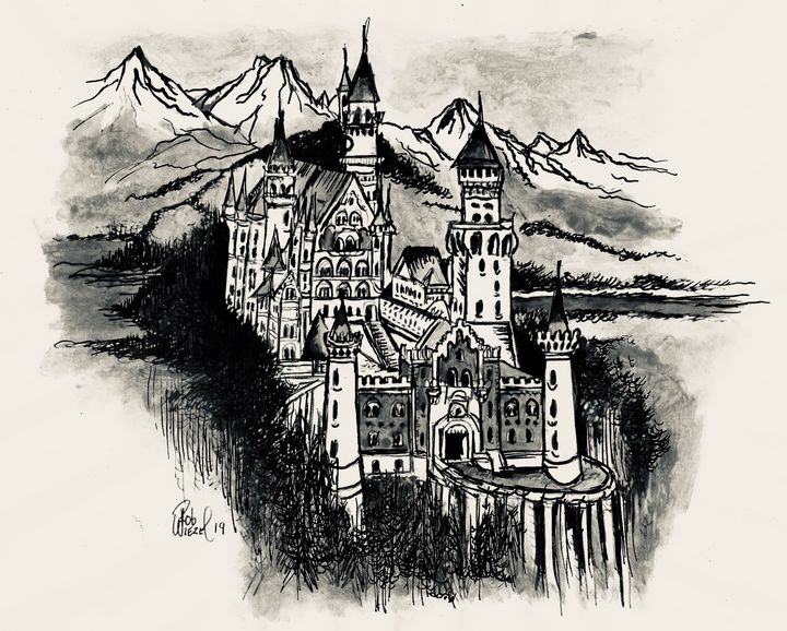Neuschwanstein Castle - Rob Wiezel Art