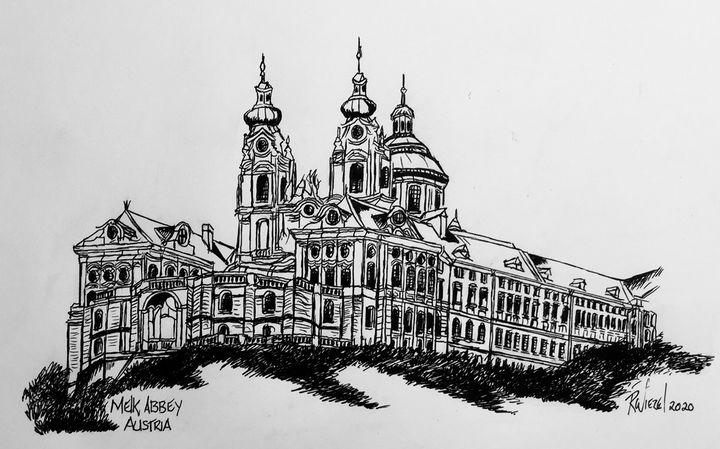 Melk Abbey Austria - Rob Wiezel Art