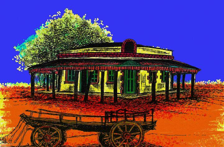 Birdsville Pub. - Rob Wiezel Art