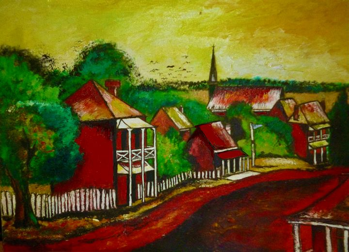 Country Lane - Rob Wiezel Art