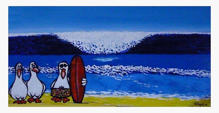 The Tourist - Rob Wiezel Art