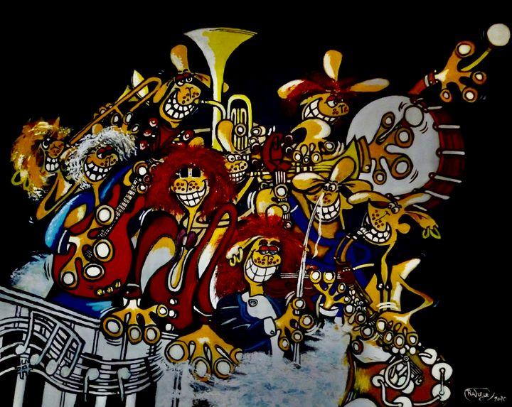 Harpers Awesome big Band. - Rob Wiezel Art