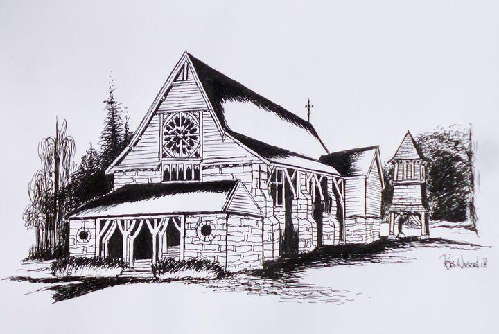 St Barnabas Chapel, Norfolk Island. - Rob Wiezel Art