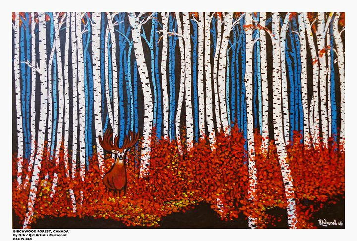 Birchwood forest - Rob Wiezel Art