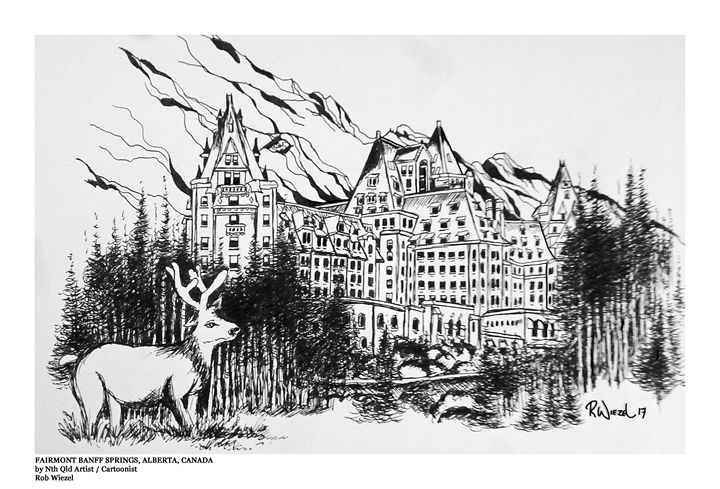 Banff Springs - Rob Wiezel Art