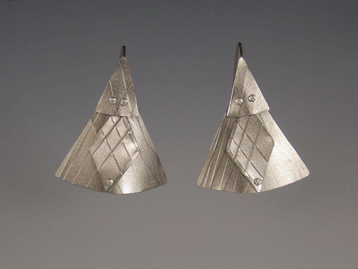 titanium earrings three - Sandra VanderMey