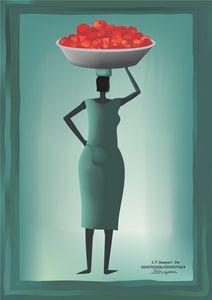 A tomatoe seller