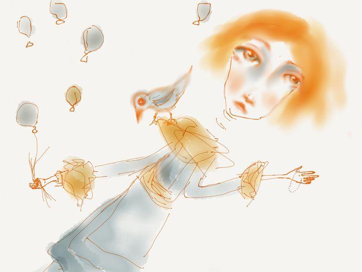 gray balloon - soulspeak art