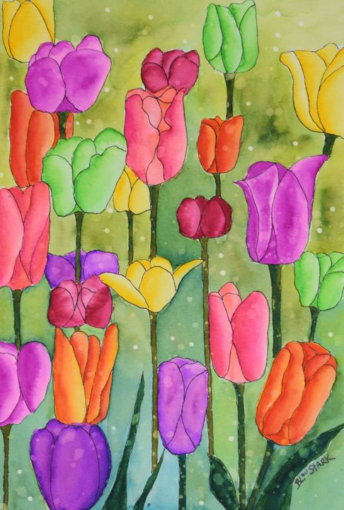 The Many Colors Of Tulips - Barrie Stark Art