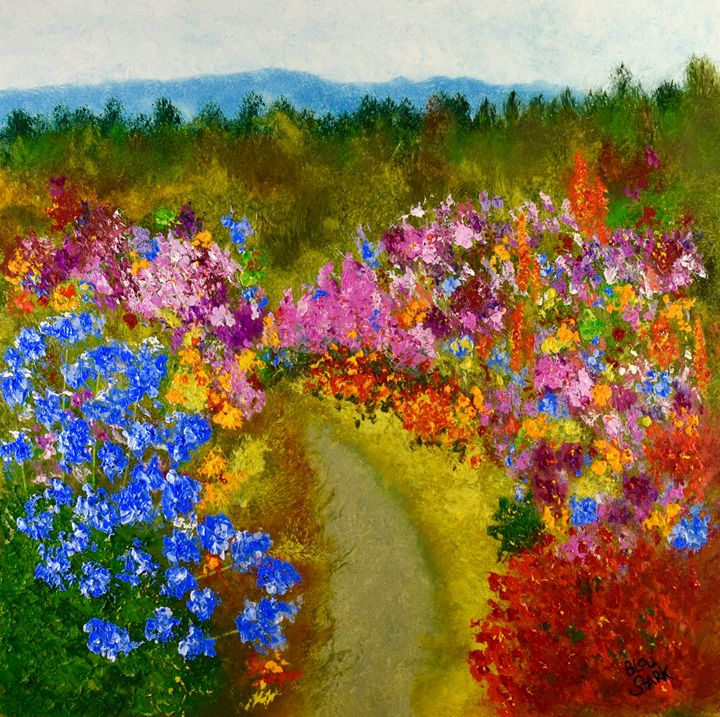 Garden Path - Barrie Stark Blou's Art