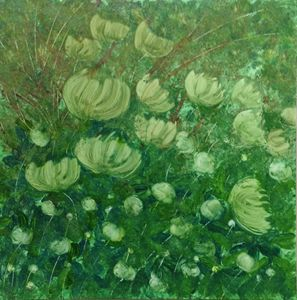 Emil's Peonies in Green