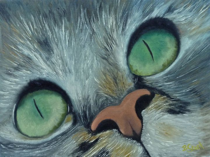 Denise's Cat Jasmine - Barrie Stark Blou's Art
