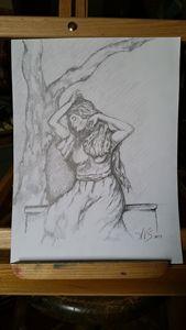 Lady Under Tree