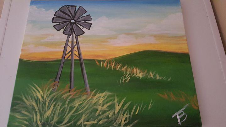 Outdoor Windmill - Tiffany's Creative Paintings