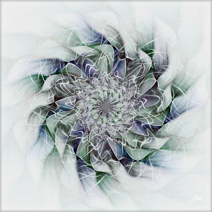 Miko Propeller flower 2015 - Miko Resinpaintings