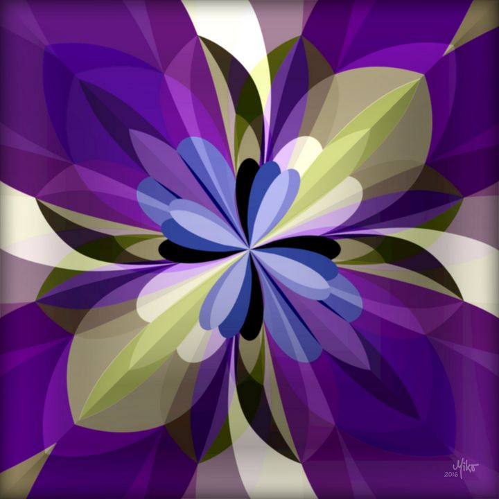 Miko Flower abstraction 2016 - Miko Resinpaintings