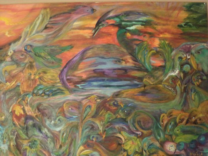 81 Birds - Maui Island Shell Visionary Artwork