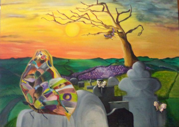Death Followed by Renewal - Maui Island Shell Visionary Artwork