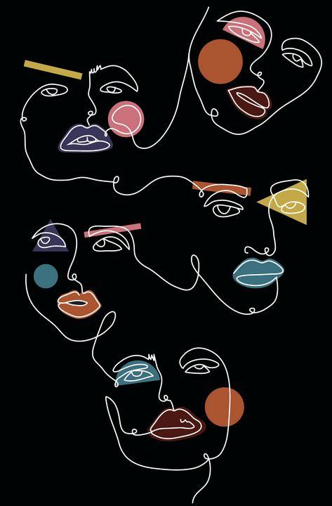 Four Faces - The Scribbler