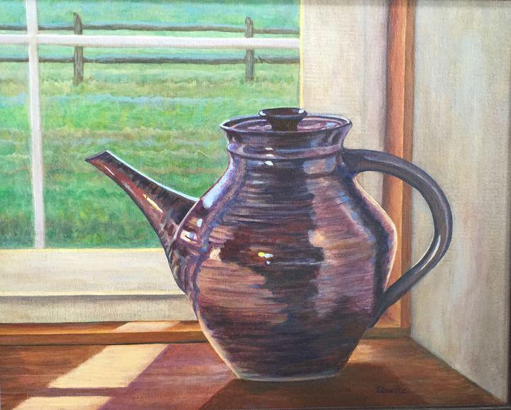 Ceramic Teapot - EileenMz Art