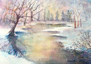 Snowy Stream 2