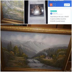 R Boren scenery painting