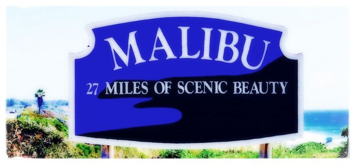 Malibu sign, 27 miles of scenic - Anna Karin Photography