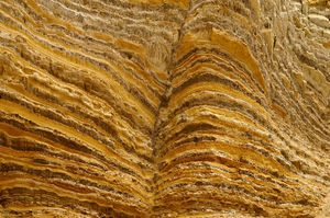 Golden Layered Rockformation