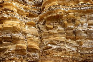 Golden layered Rockformation #2