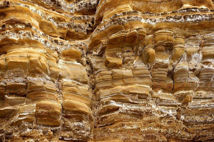 Golden layered Rockformation #2 - Anna Karin Photography