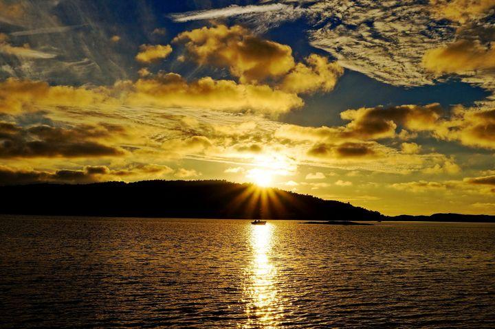 Golden Nordic Sunset - Anna Karin Photography