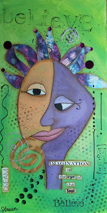 Imagination is the eye of the Soul - Funky Picasso