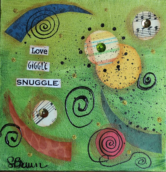 Love, Giggle Snuggle - Funky Picasso