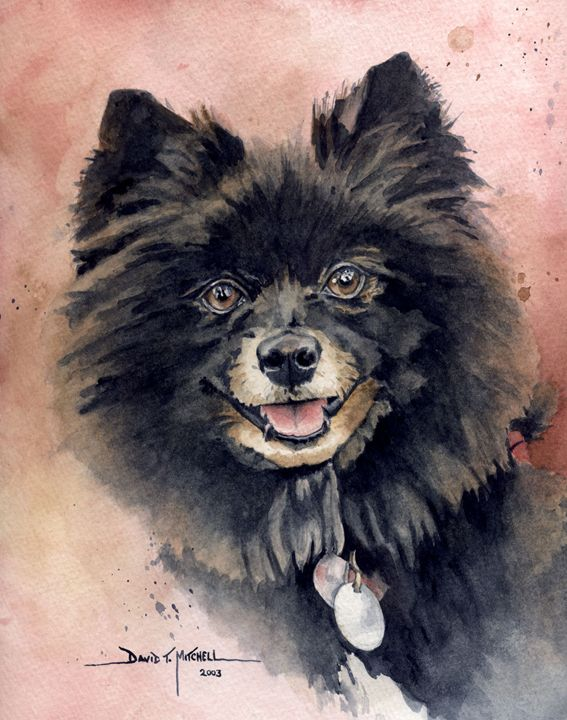 """""""Attentive Smile"""" - Artwork by David T. Mitchell"""