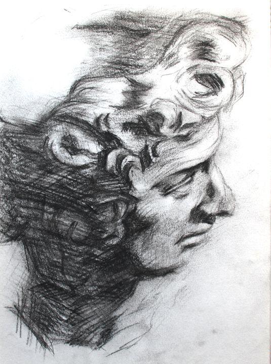 Greek Statue Sketch - Pen N Pencil