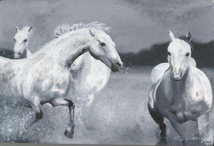Horses Galloping - Tim Douel Art
