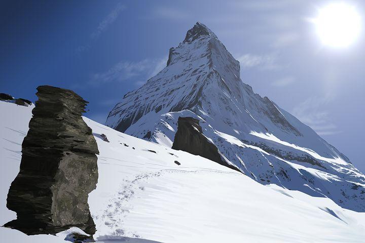 Mt Matterhorn - Tim Douel Art