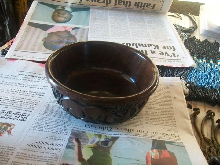 wooden bowl - ART DECOR