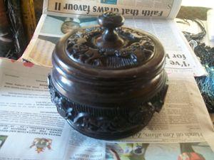 decorative wooden pot - ART DECOR