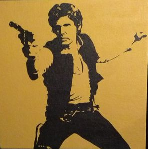 Star Wars Han Solo painting