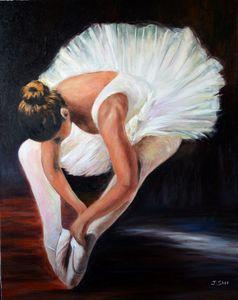 Little white swan