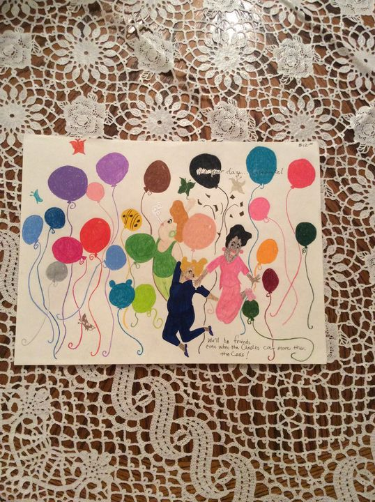 Lady having fun HappyBirthday - Marys Best Work From  Tucson Az