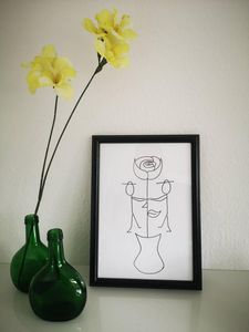 Love rose drawing